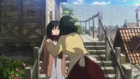 Carla sagt Mikasa, dass sie auf Eren aufpassen soll