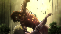 Eren battles the Female Titan