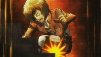 Armin slips and injures his leg