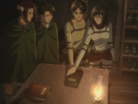 Eren and Mikasa open the first book