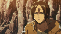 Ymir confronts Sasha