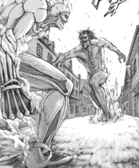 Reiner and Eren face off