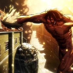 Eren ataca a Mikasa.
