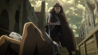 Jean befiehlt der Soldatin sich nicht zu bewegen