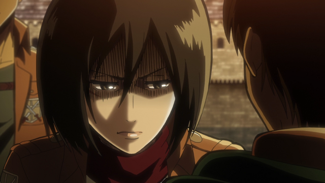 File:Mikasa's anger with Levi's actions.png