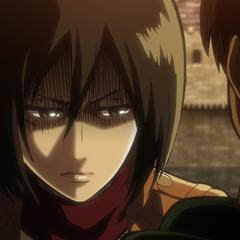 Mikasa le promete a Eren que hará pagar a Levi por lo que hizo en el juicio.