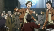 Eren se dispute avec un soldat