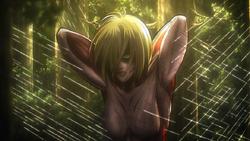 Der weibliche Titan in Erwins Falle (Anime)