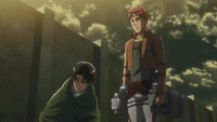 Flocke fragt Levi, warum er Armin gewählt hat