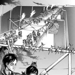 Mikasa se prepara para la operación de recaptura.