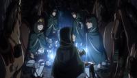 Eren, Mikasa und Armin in der Nähe von Shiganshina