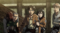 Special Operations Squad watches Armin devour Bertholdt
