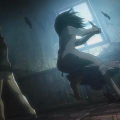 Mikasa despierta su poder.