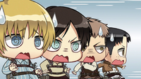 The boys upon Mikasa's return
