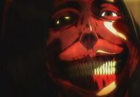 Das typische Lächeln des grinsenden Titans