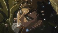 Levi attempts to break through the Female Titan's defense