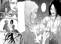 Eren transforms in front of Reiner and Falco