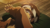 Eren breaks down in defeat