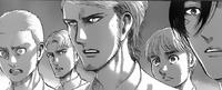 Mikasa, Armin, Connie und Jean werden freigelassen