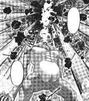 Levi taunts the Beast Titan