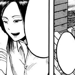 Mikasa recibe la marca de su familia.