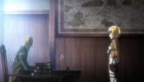 Armin informing Keith