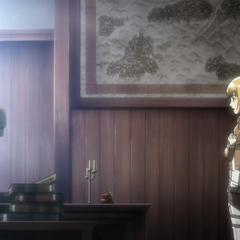 Armin entrega un reporte a Shadis.
