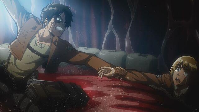 File:Eren grabbing Armin's arm.jpg