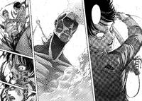 Eren wyciąga Bertholdta z jego formy