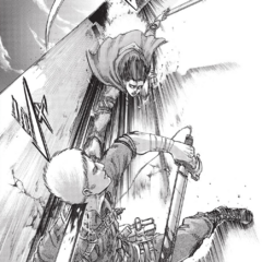 Levi ataca a Reiner.