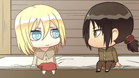 Ymir and Christa decide on shopping together