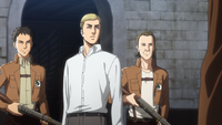 Erwin is detained by the Military Police