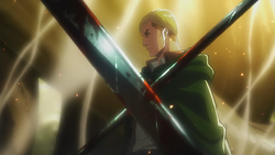Erwin sagt Levi, dass er seine Entscheidungen nicht bereuen soll