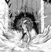 Eren seals the hole