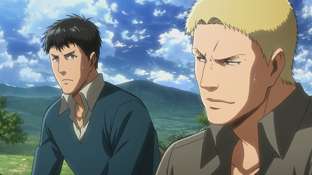 File:Bertholdt and Reiner agree to help Conny with the southern territory.png