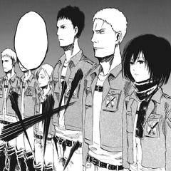 Mikasa ocupa el primer lugar en el top 10 de la Tropa de Reclutas.