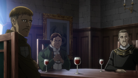 The nobles discuss Erwin's interrogation