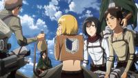 Jean offers Armin water
