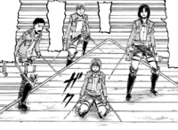 Armin and the others watch their comrades die