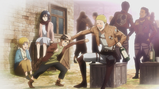 File:Eren, Armin, Mikasa and Hannes in the past.png