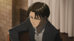 Levi converses with Erwin