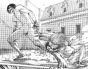 Jaw Titan bites the Attack Titan