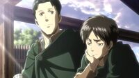 Marco tells Eren that Jean will be a good leader