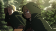Reiner and Armin hide their faces