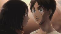 Mikasa bedankt sich bei Eren
