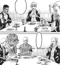 Yelena und Pixis essen