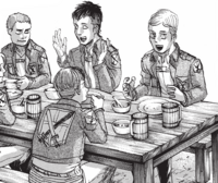 Erwin shares his theories with his friends