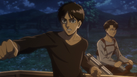 Eren tries to control Rod's Titan
