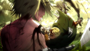 Reiner escapes from the Female Titan