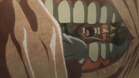 Bertholdt is eaten by Armin's Pure Titan